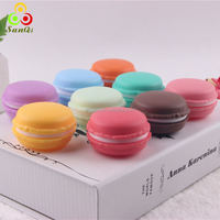 Twist Top Macaron Cookie Containers, Jewelry or Lip Cosmetic Balm Boxes/9 colors in stock