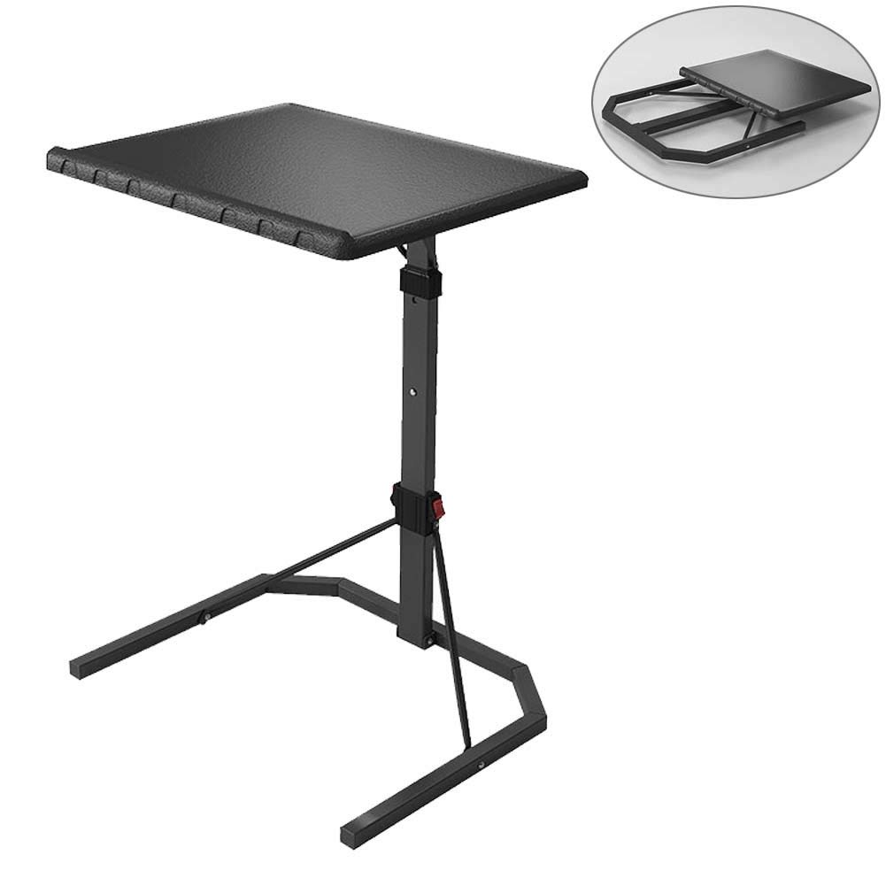 Lzttyee Plus Size Folding Tv Tray Table Adjule Height Removable Portable Sofa Bed Side Snack End Console Laptop Desk Black In Price On
