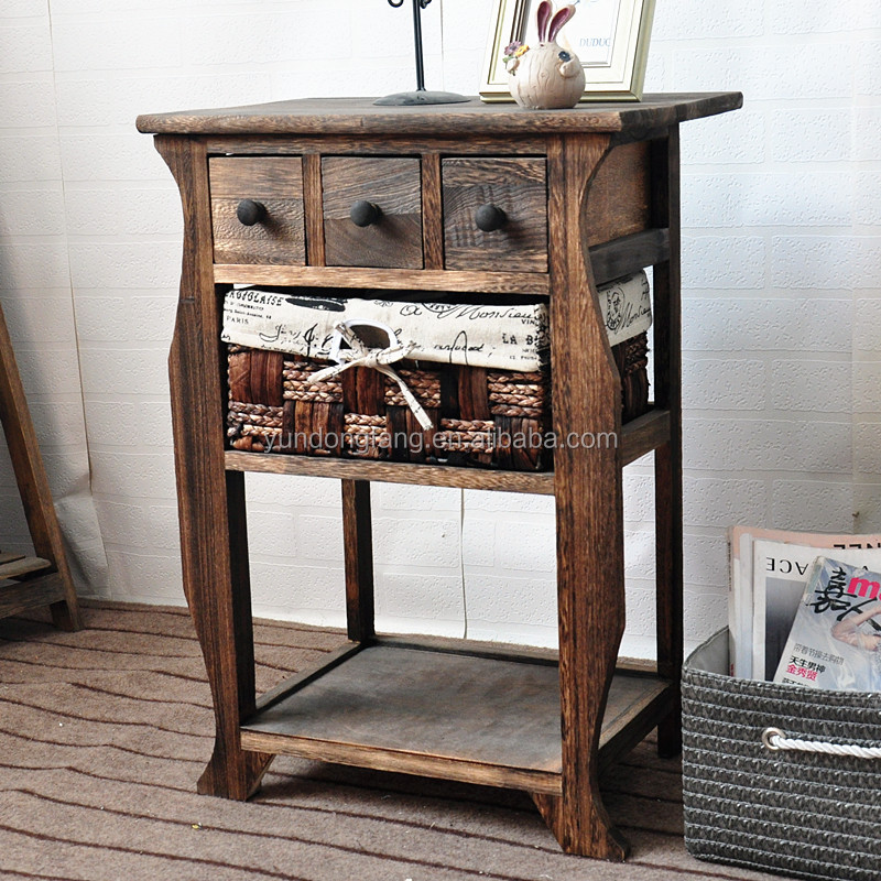 Bedroom Brown Country Style Bedside Table,Nightstand,Buffet Corner Cabinet  - Buy Country Style Bedside Table,Country Style Nightstand,Buffet Corner ...