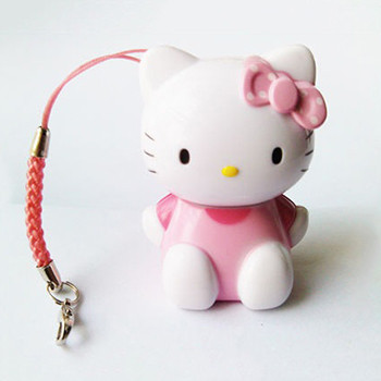 Wholesale Promotion wedding invitation gift usb flash drive of pink hello kitty usb Pen drive mini usb stick with ring