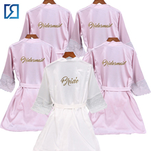 Populaire Bruidsmeisje Satijn Robe Wedding Bridal Party Gewaden