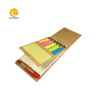 leather notebook cover A6 Mini Bamboo Cover Note Book With Pen