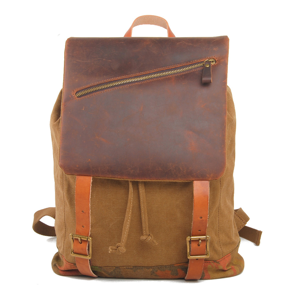 Unique design canvas best backpack for teens