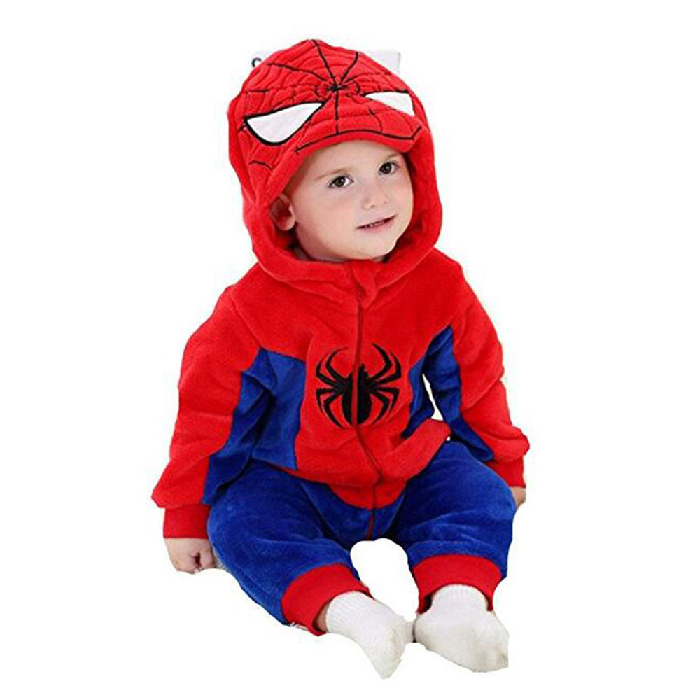 Christmas animals spider-man design cotton baby rompers baby jumpsuits