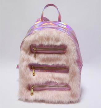 e4e5c6c372c7 Fashion Faux Fur Bag Wholesale Cute Furry Pink Girls Back Bag - Buy ...