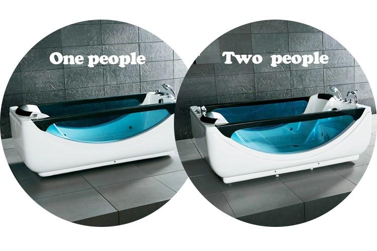 Hot Sale Indoor Freestanding Acrylic Two Side Glass Whirlpool ...