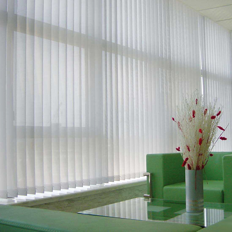 Transparent vertical blind dim out fabric with 100% polyester fabric