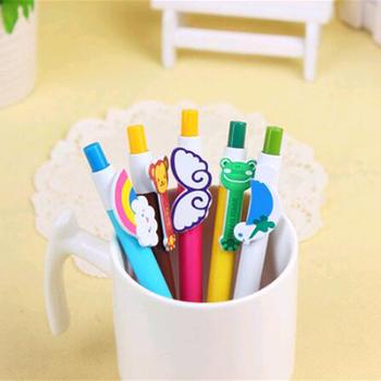 Multi Type Plastic Ballpoint Pen Cute Cartoon/animal/rainbow School Pen  Blue Ink Ball Point Pen Refill Can Change - Buy Plastic Ballpoint  Pen,Plastic