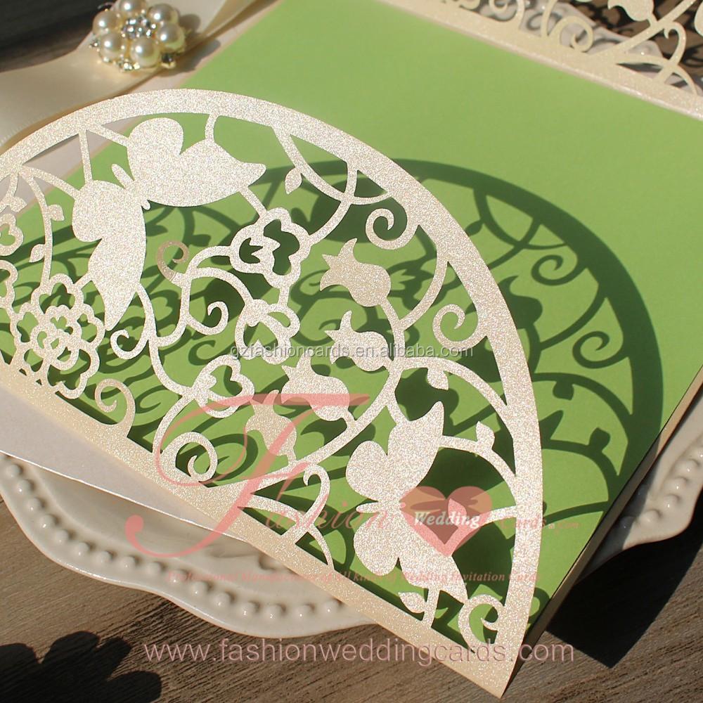 Diy Handmade Lily Valley Laser Cut Butterfly Wedding Invitations ...