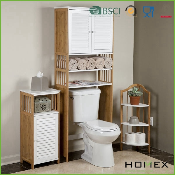 ber der toilette regal bambus und mdf wei regal homex. Black Bedroom Furniture Sets. Home Design Ideas