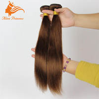 Beautiful Brown Savoy Cente Glasgow Hair Extensions Silky Straight Virgin Indian Human Hair Weft With White Label Hair Products