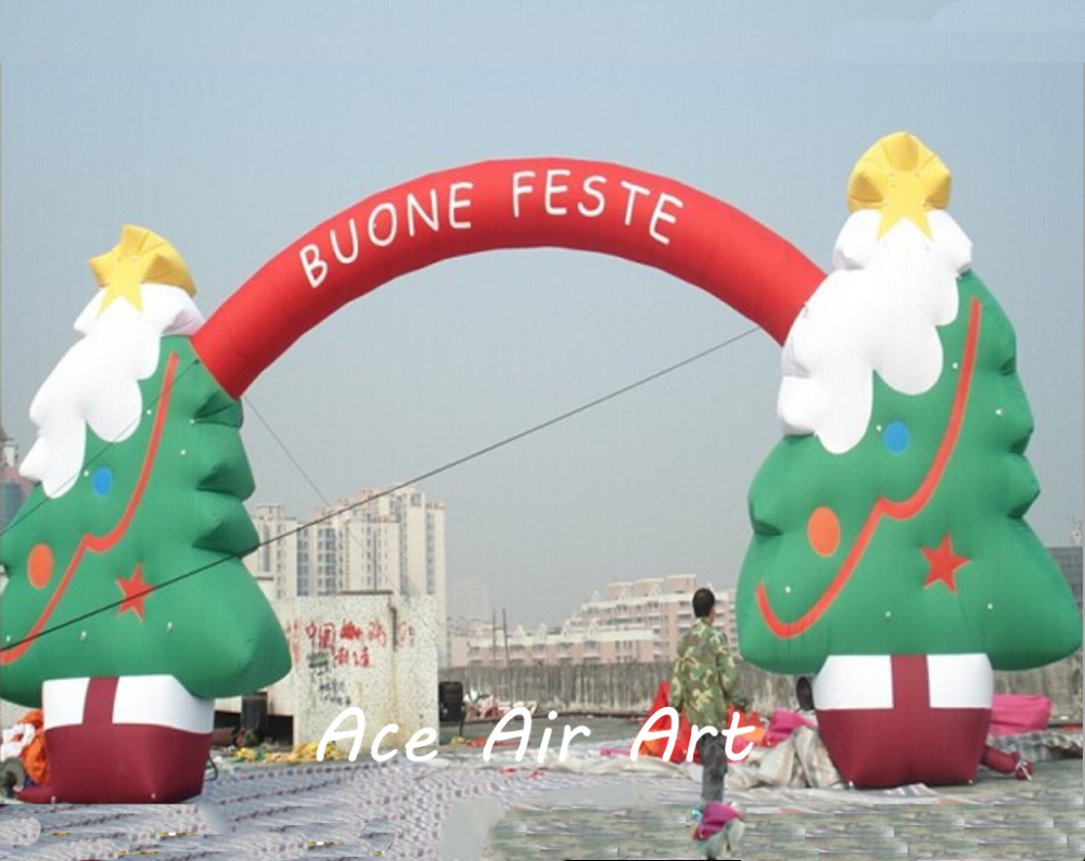 New Year new design hot selling Decorating <strong>Christmas</strong> tree Arch Inflatable <strong>Christmas</strong> 2017