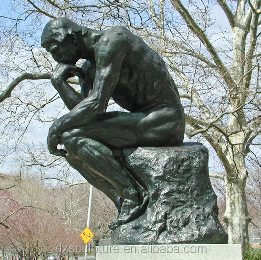 New products life size famous brass statue of the thinker
