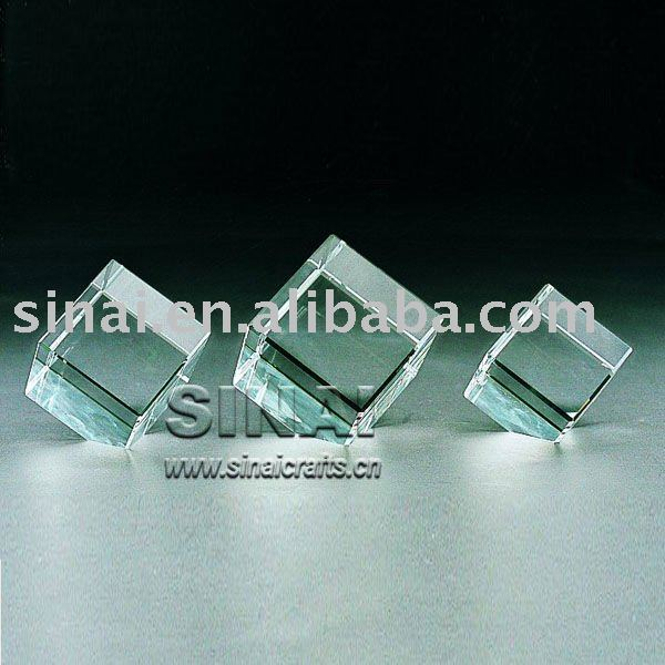 Beveled Cube Crystal Awards and Trophies