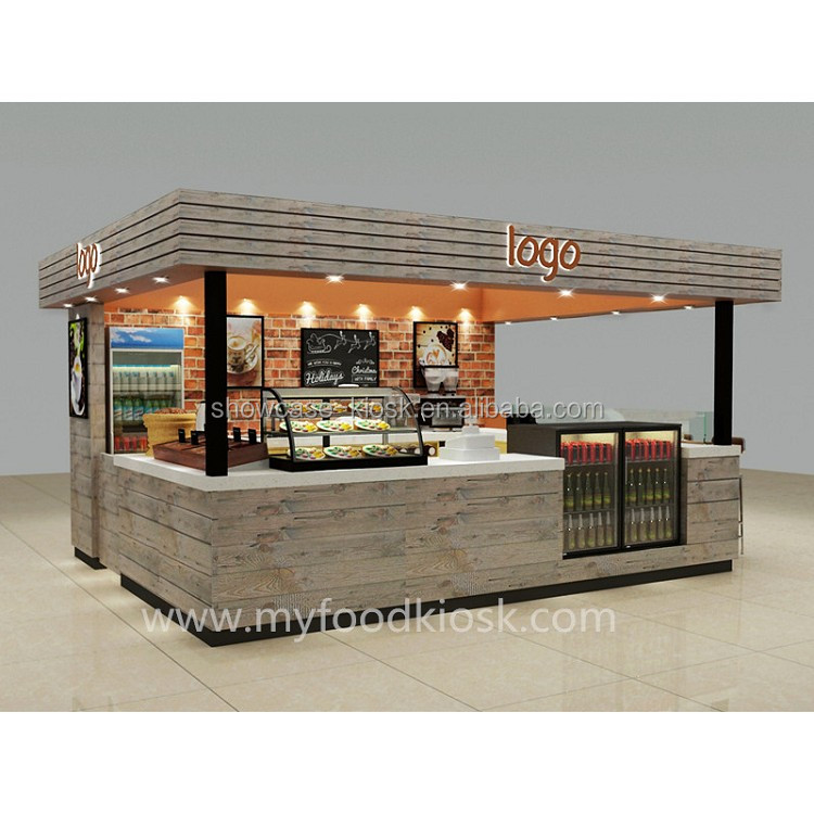 Free design best price factory made directly solid wooden coffee kiosk design