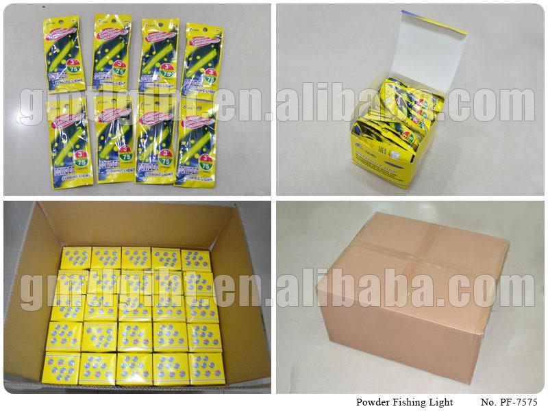 7.5*75mm powder fishing light stick - buy powder fishing light, Reel Combo