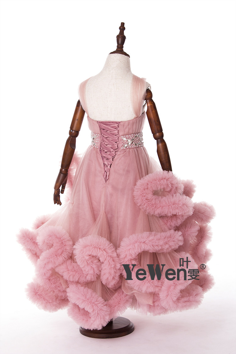 Cloud little flower girls dresses for weddings Baby Party frocks sexy children images Dress kids prom dresses evening gowns 2016 11