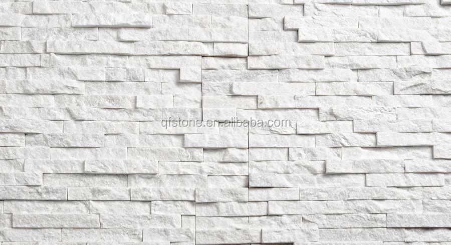 Quartz Stone Veneer : Decorative wall stone veneer panel natural white quartz