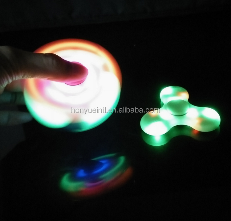 bluetooth speaker rechargeable battery hand spinner with led music