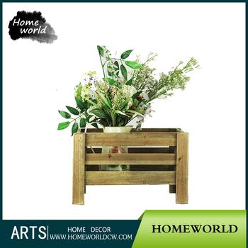 French Country Garden Planter Grate Flower Pot Storage Wooden