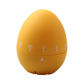 Custom 60 minutes Colorful mechanical timer egg shape countdown kitchen timer