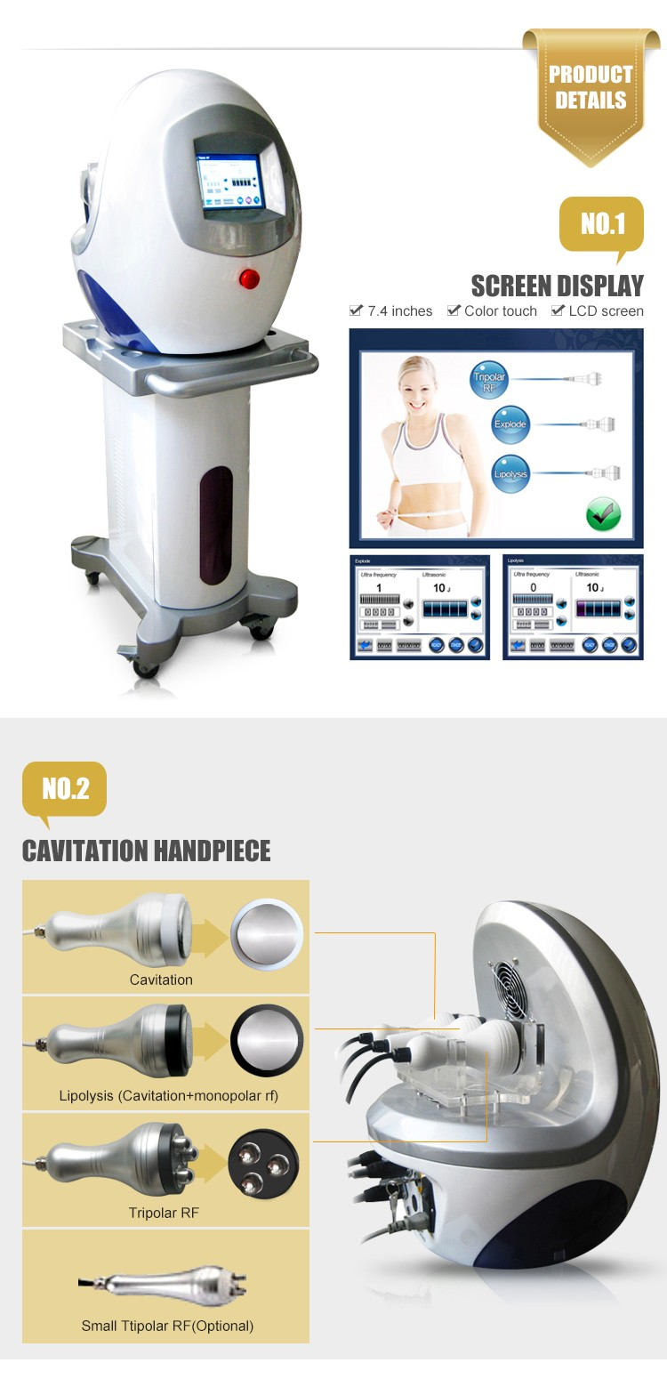 Ultrasonic vibrator body shaping cavitation rf machine for salon
