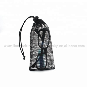 Wholesale reusable Drawstring Small Nylon Mesh Bags For Sunglasses packaging 5d0ded433656