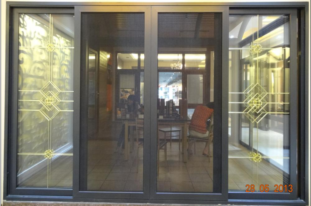 guangzhou en aluminium peinture couleurs portes