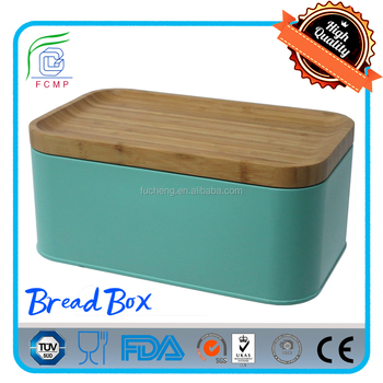 Turquoise Bread Box Impressive Unique Turquoise Rectangular Bamboo Cover Bread Box Buy Unique