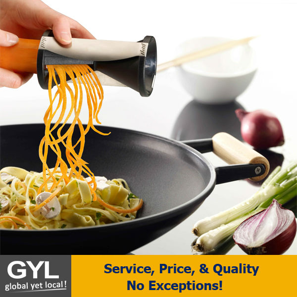 Spiral Vegetable Slicer as seen on tv product,Creates endless julienne strips Finger guard Stainless steel/Plastic