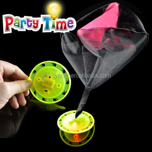 funny kid toy light up frisbee with parachute