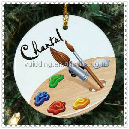 Round Shape Painting Glass Ornament For Drawing Painter