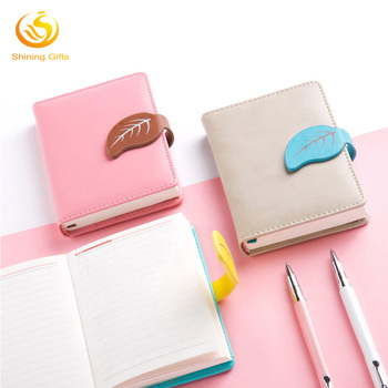 2018 fashion cute pu leather journal notebook organizer diary planner with magnetic closure