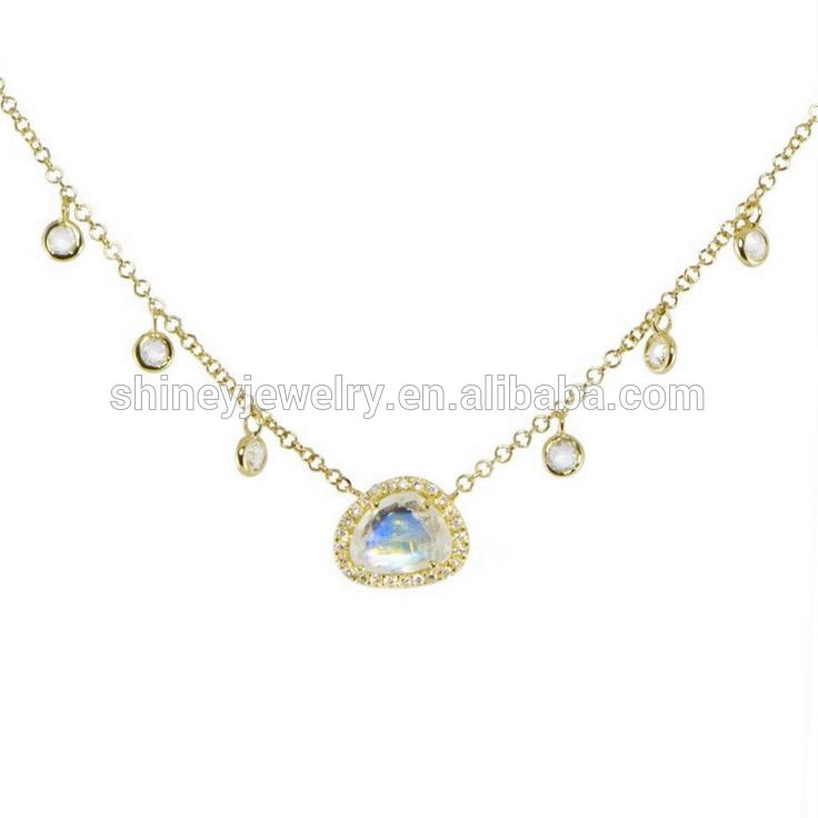 baguette cubic zirconia choker gold plated 14k 18k fashion cz charm statement necklace