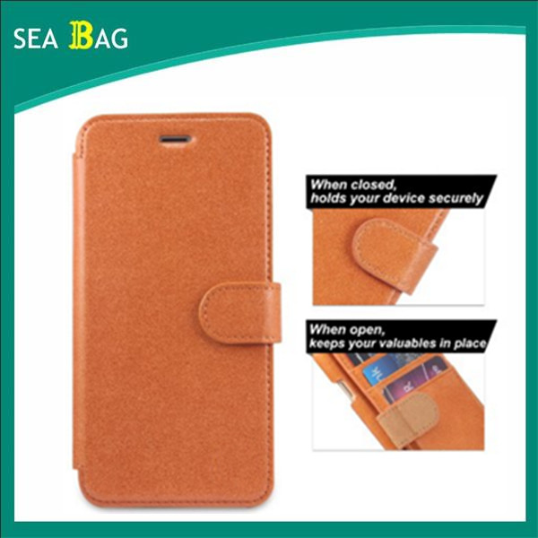 Genuine Leather Case, Ultra Slim Fit Wallet Case Flip Book Design with Stand & Card Compartments [Magnetic Clasp Closure]