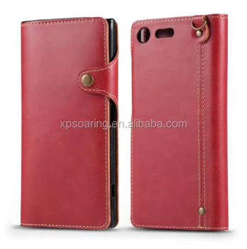 High quality leather case with card slots for Sony Xperia XZ Premium