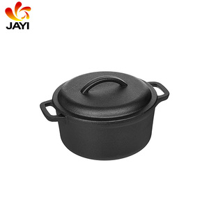 Cooking Mini Oval Cast Iron Dutch Oven/Sauce Pot Coffee Tea Camping Pot