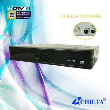 New Combo HD DVB-S2 + T2 Satellite Receiver AC & DC