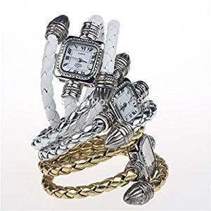 BuyerKit£¨TM)8Colors Stock 2015 Retro Watches Ladies Good Quality Quartz Watch Snake Ladies Watch Gifts Watches