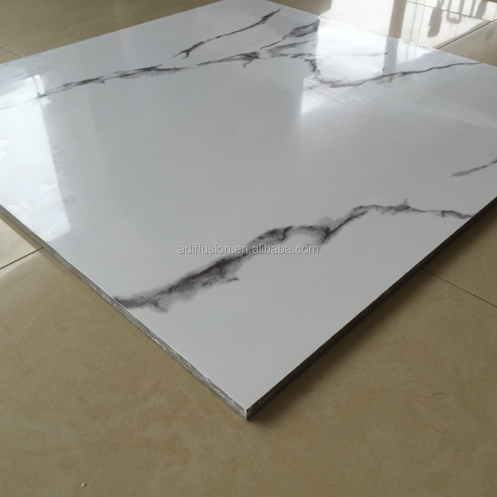 Natural Stone Look Ceramic Tile White Carrara Marble