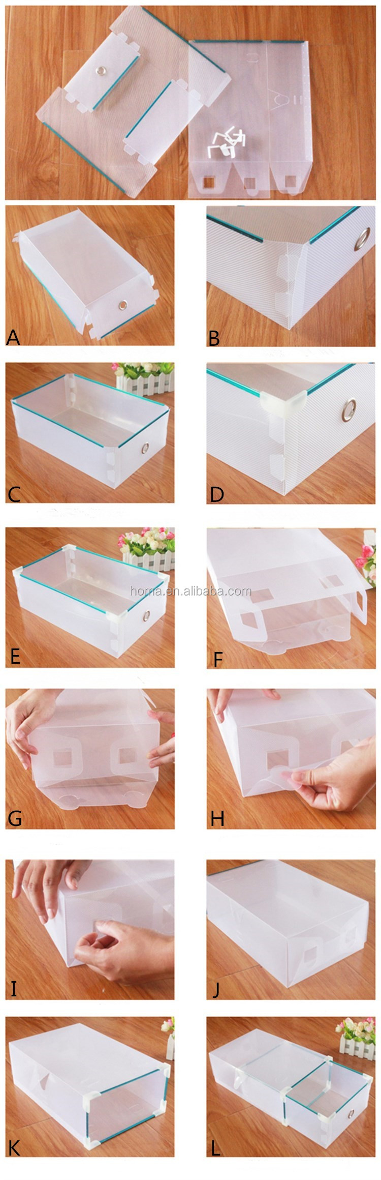 Walmart Embalaje Caja De Zapatos Caja De Pl Stico Transparente  ~ Cajas Transparentes Para Zapatos