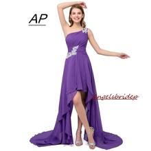 Распродажа 2020, женское платье, летнее, стильное, на одно плечо, с аппликацией, вечерние платья недорого, шифоновое вечернее платье, Vestido Mujer(Китай)