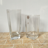 Wholesale glass juice drinking cups beverage drinking glass 400ml 14oz
