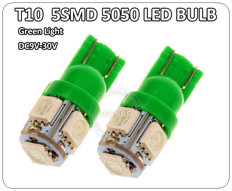 Hot T10 194 168 W5w 5050 5smd T10 Led Light Indicator Light Bulb ...