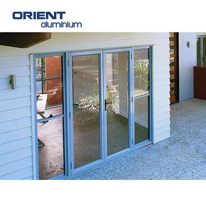 thermal break profiles aluminium folding doors double tempered glazing