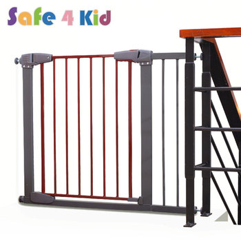 67 76 Cm White And Red Adjustable Baby Safety Gate Buy Baby Safety