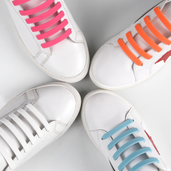 Stylish Lazy No Tie Silicone Shoelace Rubber Elastic Slip Sneaker Shoe Laces Running Shoelaces