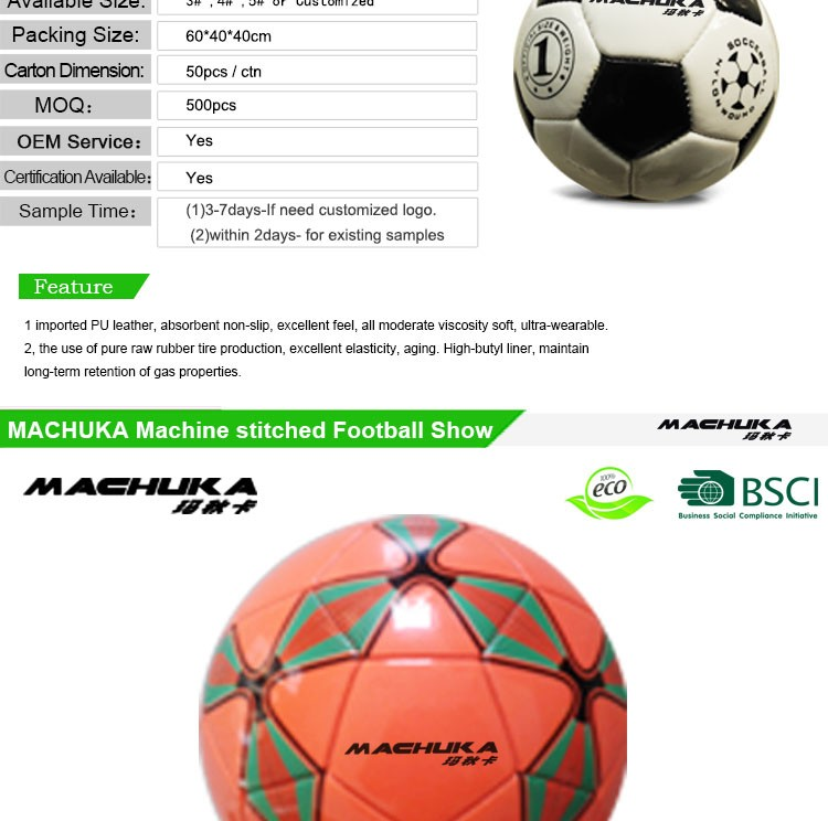 Machuka antideslizante oficial balón de fútbol barato con logotipo de la  marca original 568fbb5f44398