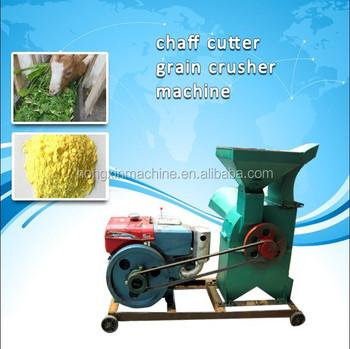 diesel engineer driven animal feed grain corn hammer mill crusher machine