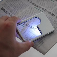 Credit Card 88*57*9mm Led Magnifier loupe with light Leather Case Brand New magnifying glass